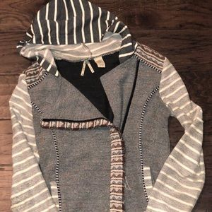 Gimmicks 3/4 length zip up hoodie